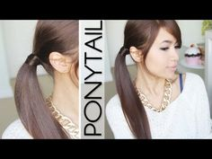 Hair Wrapped Ponytail Hairstyle (No Bobby Pins) Tutorial