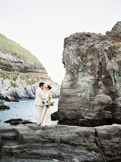 Destination seaside Portugal wedding: Photography : Brancoprata Read More on SMP: http://www.stylemepretty.com/destination-weddings/2016/08/04/elegant-elopement-in-azores-portugal/