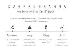Dagprogramma rechthoekig liggend algemeen