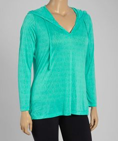 Loving this Pool Green Burnout Hoodie - Plus on #zulily! #zulilyfinds