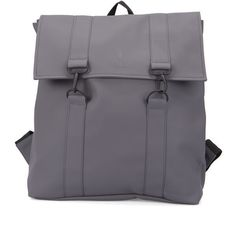 RAINS Grey Waterproof Messenger Bag