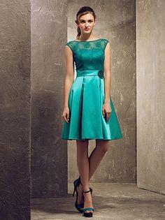 Cheap Lace Bridesmaid Dress - Discount Graceful Cheap Jade Lace Bridesmaid Dress a Line Online with $47.85/Piece | DHgate