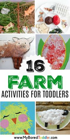 FARM ACTIVITIES AND CRAFTS FOR TODDLERS 1 YEAR OLD 2 YEAR OLD 3 YEAR OLD #toddlers #farm #spring #farmcrafts #toddlercrafts