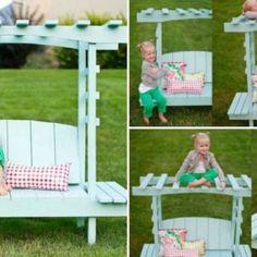 Garten für Kinder – DIY Kindermöbel und Spielecken für draußen