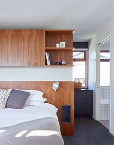 This bedroom is from a home in Brisbane, Australia, designed by kahrtel.