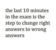 The last minutes in the #exam...........