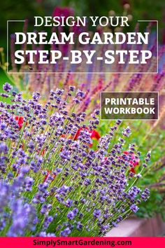 Enter your email address for instant access to a free garden design workbook. Learn how to design any garden layout step-by-step. Starting a new garden can feel overwhelming. But these 7 simple steps Amazing Gardens, Beautiful Gardens, Beautiful Flowers, Unique Garden, Easy Garden, Box Garden, Garden Care, Gardening For Beginners, Gardening Tips
