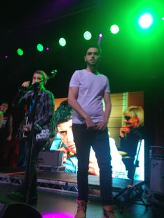 Luke and James onstage <3
