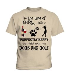 I'm the type of girl - Golf (Kid T-Shirt - Sand) #legging #health #fitness golfing design, golfing quotes, golfing photography, back to school, aesthetic wallpaper, y2k fashion