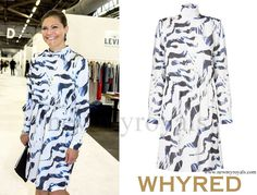 Crown Princess Victoria wore WHYRED Loise Print Dress -Zebra. www.newmyroyals.com