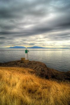 Gowland Pt navigation light, South Pender Island, Southern Gulf Islands, BC, by Adam Taylor