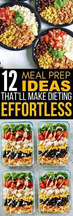 These 12 Meal Prep Ideas Are PERFECT If You Want Something Easy To Make To Help You Lose Weight Fast!