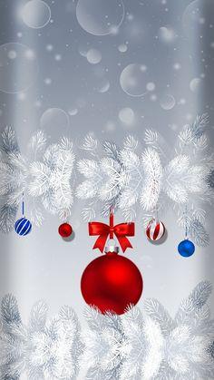 Cute Christmas Backgrounds, Christmas Phone Wallpaper, Holiday Wallpaper, Winter Wallpaper, Christmas Mood, Christmas And New Year, Christmas Bulbs, Christmas Decorations, Wallpaper Backgrounds