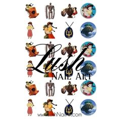 Castle in the Sky Disney's Studio Ghibli Nail Art Water Transfer Decal