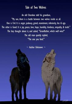 Work Quotes : Tale of Two Wolves.