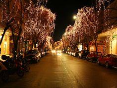 Christmas Lights Corfu, Christmas Lights, Outdoor, Christmas Fairy Lights, Outdoors, Outdoor Games, The Great Outdoors