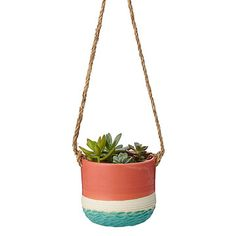 Look what I found at UncommonGoods: Coral Carved Hanging Planter for $68.00