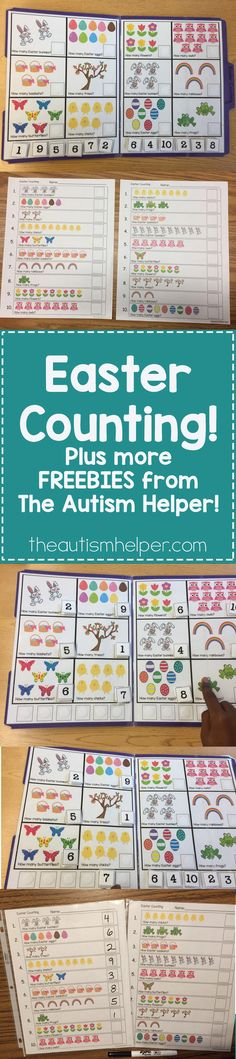 We\'re sharing tons of FREEBIES from Sarah the Speech Helper. Download our Easter Counting resource today!! From theautismhelper.com #theautismhelper