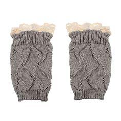 Sunward Women's Lace Trim Crochet Kni…