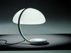 Martinelli Luce Serpente Modern Table Lamp by Elio Martinelli, White Contemporary Table Lamps, Modern Floor Lamps, Modern Desk, Modern Lighting, Lighting Design, Modern Table, Table Lamp Base, Lamp Bases, Light Table