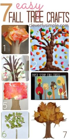 Easy Fall Tree Crafts for Kids!  You probably have the items you need at home already!