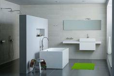 Oplossing met muur die douches afscheidt van de rest + nis - Clou bath findings - concepts
