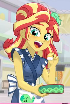 mlp art,my little pony,Мой маленький пони,фэндомы,Sunset Shimmer,Сансет Шиммер,minor,Equestria girls,Ta-Na,artist