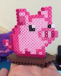 Pig perler beads by perlerplayland