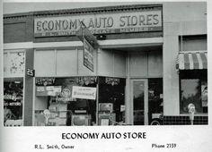 1959 Economy Auto Store Douglasville Lithia Springs, Douglas County, Vintage Auto, Veterans Memorial, Vintage Postcards, American History, Georgia, Restaurants, Photographs