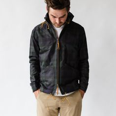 Waxed Blackwatch Anorak
