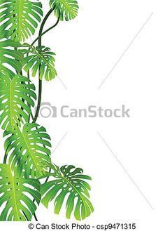 feuille exotique plante monstera csp6781152 dessin pinterest uvres d 39 art clip. Black Bedroom Furniture Sets. Home Design Ideas
