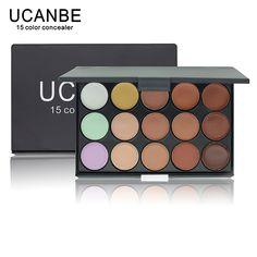 UCANBE Thương Hiệu 1 CÁI Professional 15 Màu Ngụy Trang Facial Che Khuyết Palettes Trung Tính Đường Viền Kem bộ Trang Điểm Mỹ Phẩm