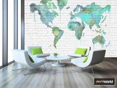 Watercolour world map outline faded on brick wall wallpaper World Map Outline, Brick Wall Wallpaper, Water Color World Map, Home Office, Watercolour, Maps, Dreams, Pen And Wash, Watercolor Painting