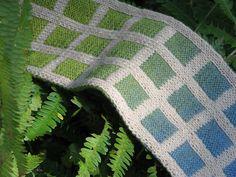 double knitting - 1 skein plain, 1 skein shifty!