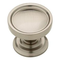 liberty harper 118 in satin nickel cabinet knob