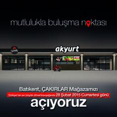 Yarın Batıkent Çakırlar mağazamızı Türkiye nin en büyük dönel kavşağında açıyoruz.  Sizleri de aramızda görmekten büyük mutluluk duyacağız.