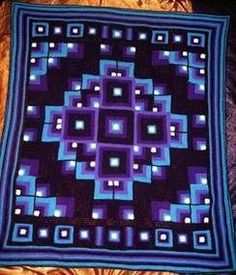 Original Mandala Geometric crochet blanket