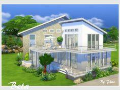 Beta (no CC) – The Sims 4 Catalog - Tattoo Oberschenkel Frau Sims 4 Modern House, Sims 2 House, Sims 4 House Plans, Sims 4 House Building, Sims 4 House Design, Sims 4 Family House, Sims 4 Houses Layout, House Layouts, Sims 3 Houses Ideas