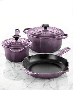 Le Creuset Signature Enameled Cast Iron Cookware, 5 Piece Set - Cookware Sets - Kitchen - Macy's