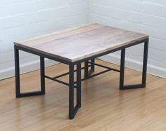 Walnut and Steel Coffee Table by EdgeGrainDesigns on Etsy