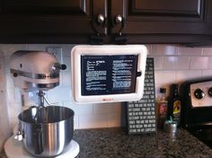 Using iPad in the kitchen
