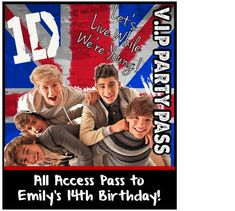 Top One Direction Party Games, Ideas, and Personalized Party Supplies!