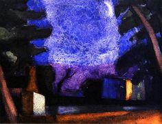 Silver Moon Oscar Bluemner - circa 1918