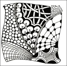 Zentangle Patterns for Beginners   classic zentangle is drawn on a 3 1 2 x 3 1 2 paper tile using a ...