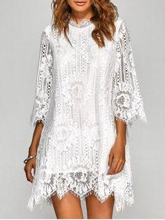 GET $50 NOW | Join RoseGal: Get YOUR $50 NOW!http://m.rosegal.com/lace-dresses/irregular-hem-openwork-lace-dress-813277.html?seid=gpds6d8sr3jdbmu241vdlfcom6rg813277