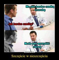 Szczęście w nieszczęściu – Mapan bardzorzadKachorobeJak bardzo rzadką?azwe Wtf Funny, Funny Memes, Hilarious, Funny And Gold, Polish Memes, Weekend Humor, Really Funny Pictures, Smile Everyday, Quality Memes
