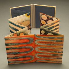 Vastness by Karen Kunc Concertina Book, Accordion Book, Paper Book, Paper Art, Cut Paper, Up Book, Book Art, Art Portfolio Website, Portfolio Book