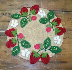 Strawberry Candle Mat by JustJills on Etsy, $20.00