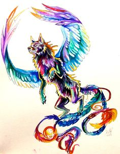Flying Wolf Tattoo by =Lucky978 on deviantART