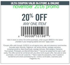 Ulta Coupons Ends of Coupon Promo Codes MAY 2020 !, store region in United Ulta as & in known a the it Salon, place this headqua. Free Printable Coupons, Free Printables, Ulta Coupon, Coupons For Boyfriend, Coupon Stockpile, Salon Services, Love Coupons, Grocery Coupons
